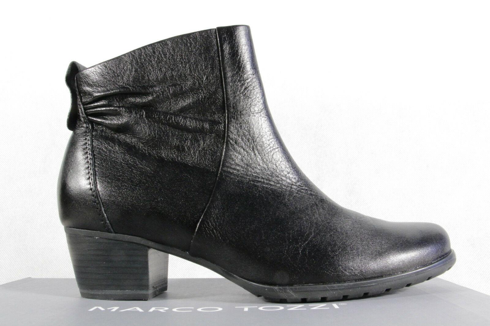 Marco Tozzi Stiefelette Stiefel, Stiefel, Stiefel, schwarz, Leder NEU   0a6139