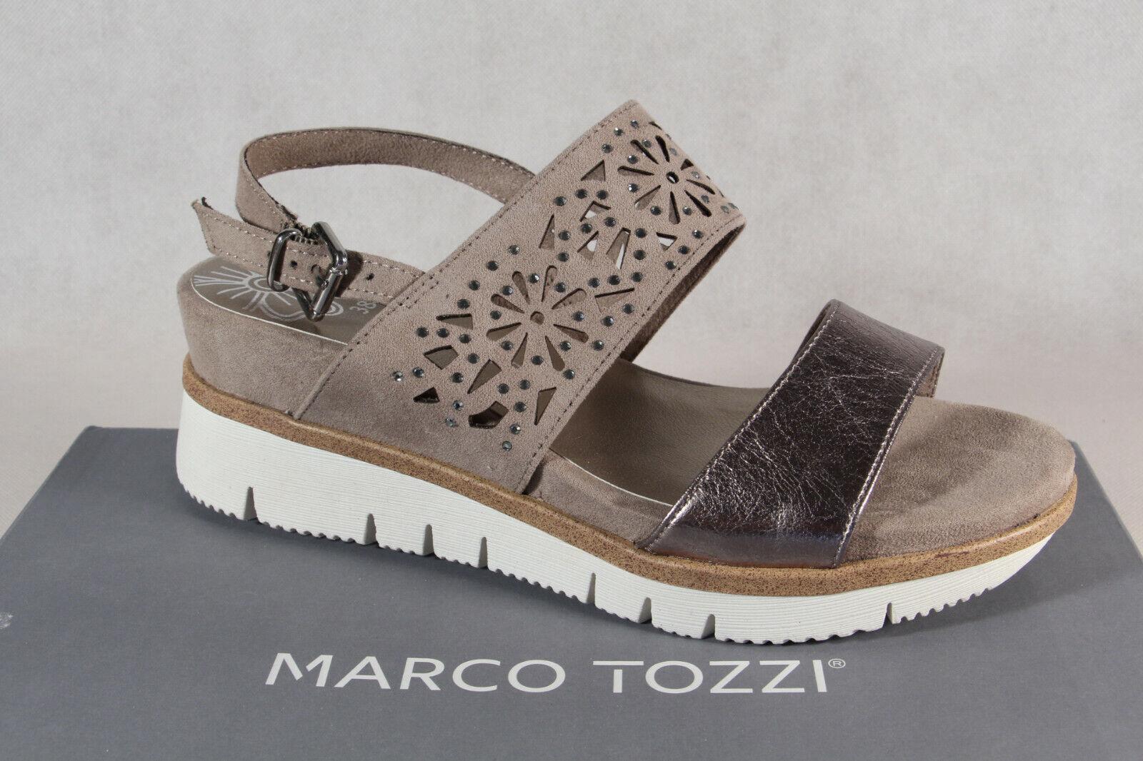 more photos 664df 1ff9c Marco Tozzi Damen Sandale Sandalen Sandalette Sandaletten taupe 28717 NEU!!