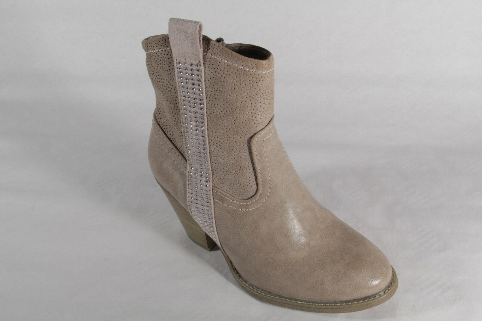 Marco Tozzi Stiefel, Stiefeletten, Stiefel Kunstleder beige, Reißverschluss NEU    611b07
