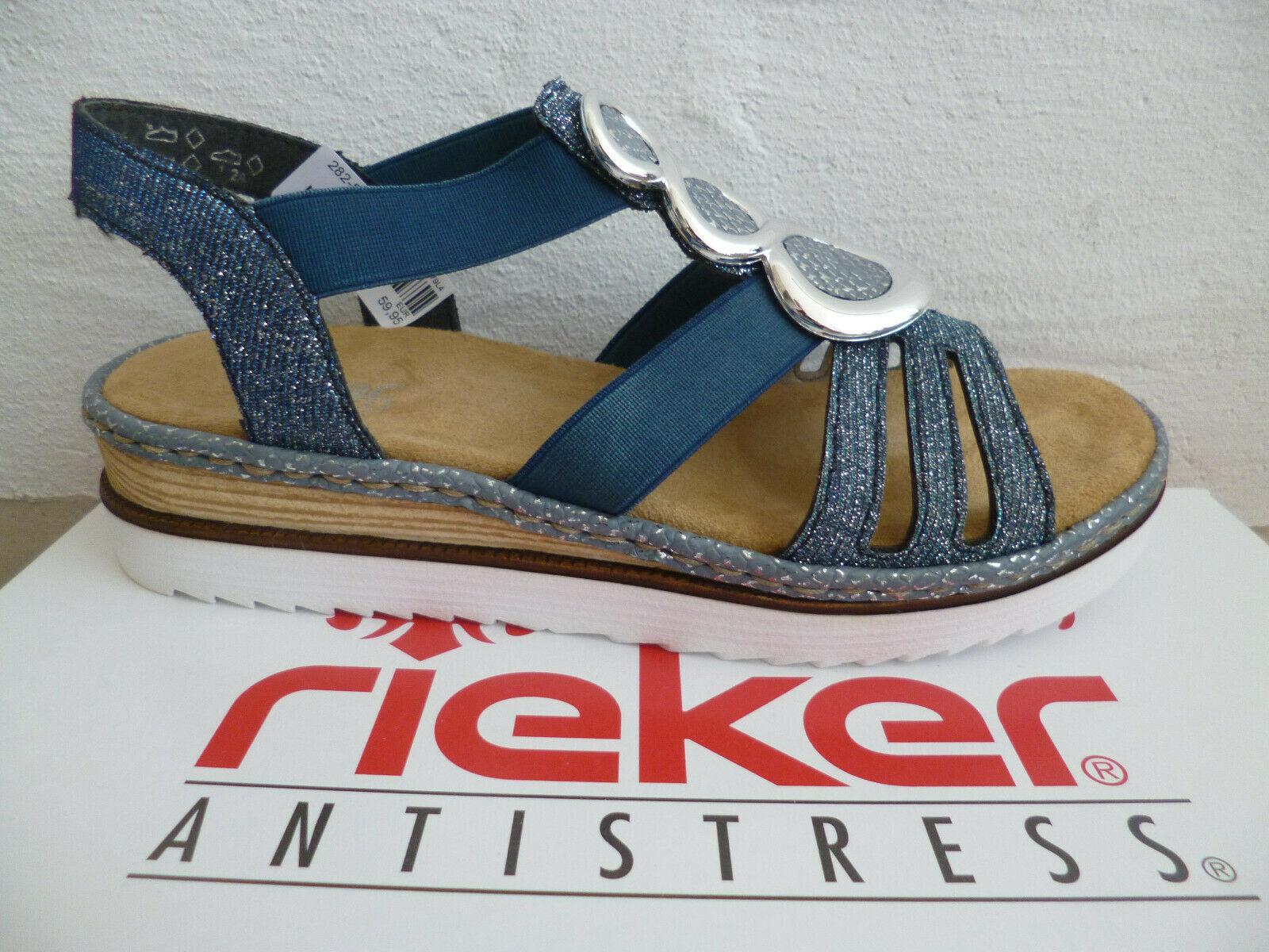 Rieker Damen Sandale Sandalen Sandalette Sandaletten blau 679L4 NEU!!