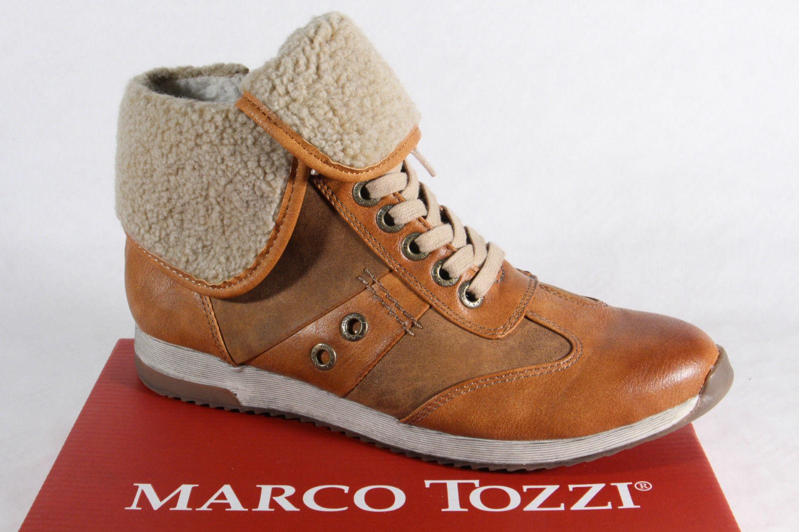 Marco Tozzi Stiefel Stiefeletten Boots Kunstleder beige Reißverschluss NEU!