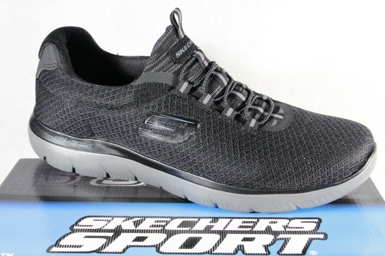 Skechers Herren Slipper Sneakers Sneaker Sportschuhe Halbschuhe schwarz NEU!