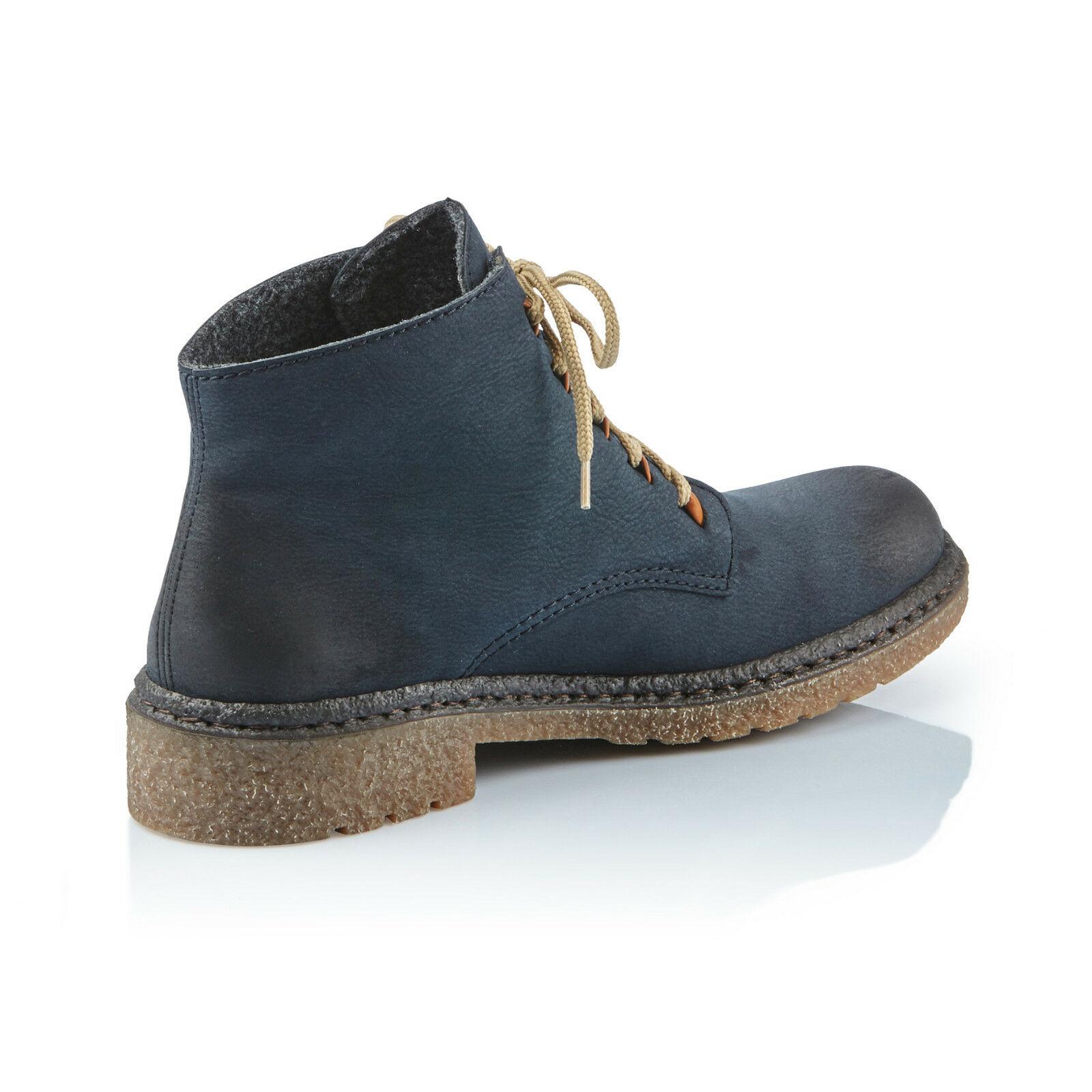 Rieker Damen Schnürschuhe Schnürschuhe Damen Stiefel Stiefel blau 53244 NEU  75b771