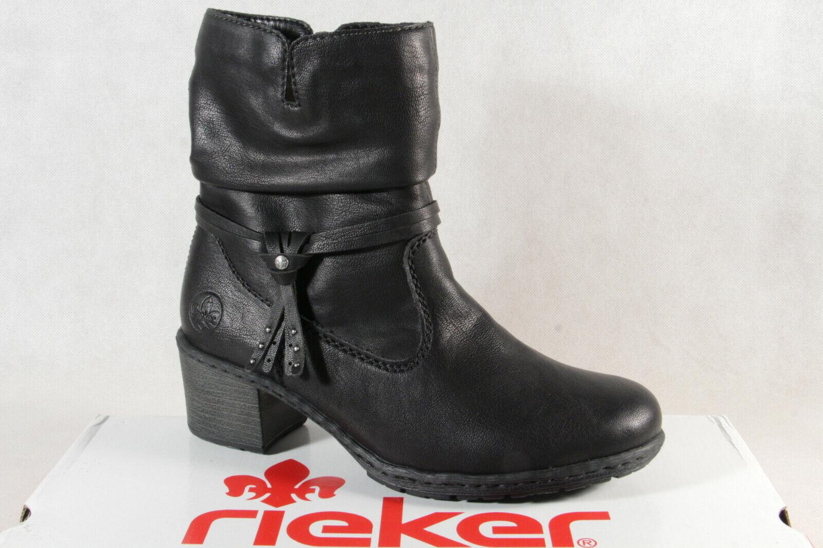 Rieker Damen Stiefel Stiefeletten Schnürstiefel schwarz Y8850 NEU!