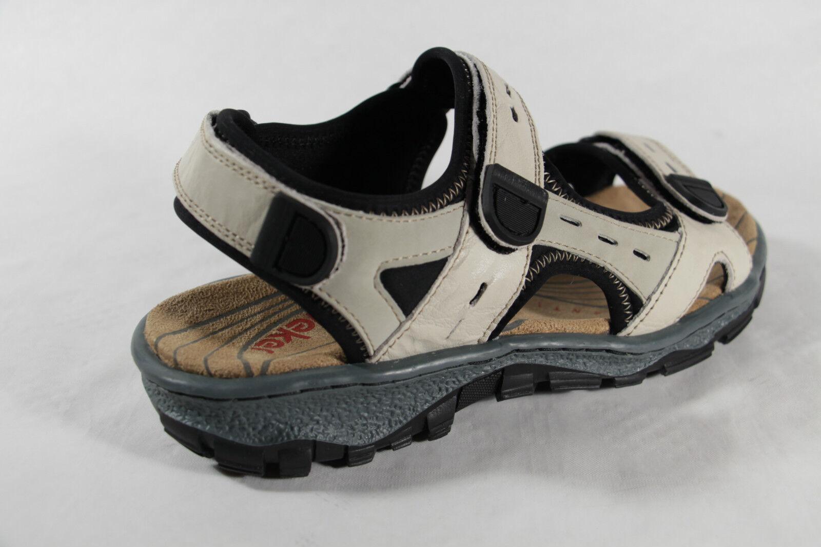 Rieker Damen Damen Damen Sandale, beige, Klettverschluß, weiche Innensohle, Gummisohle NEU   e90c63