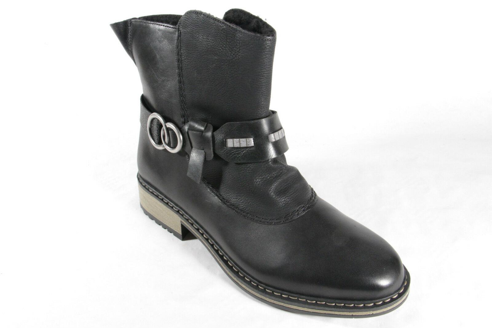 Rieker Damen Stiefel Stiefeletten Boots Winterstiefel schwarzZ6899  NEU