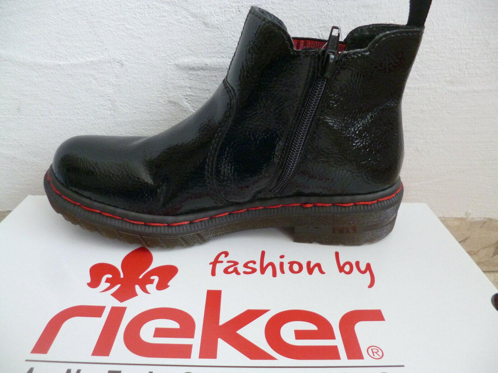 NEU Rieker Damenschuhe Schuhe Stiefeletten Boots Stiefel Damenstiefel Lackoptik