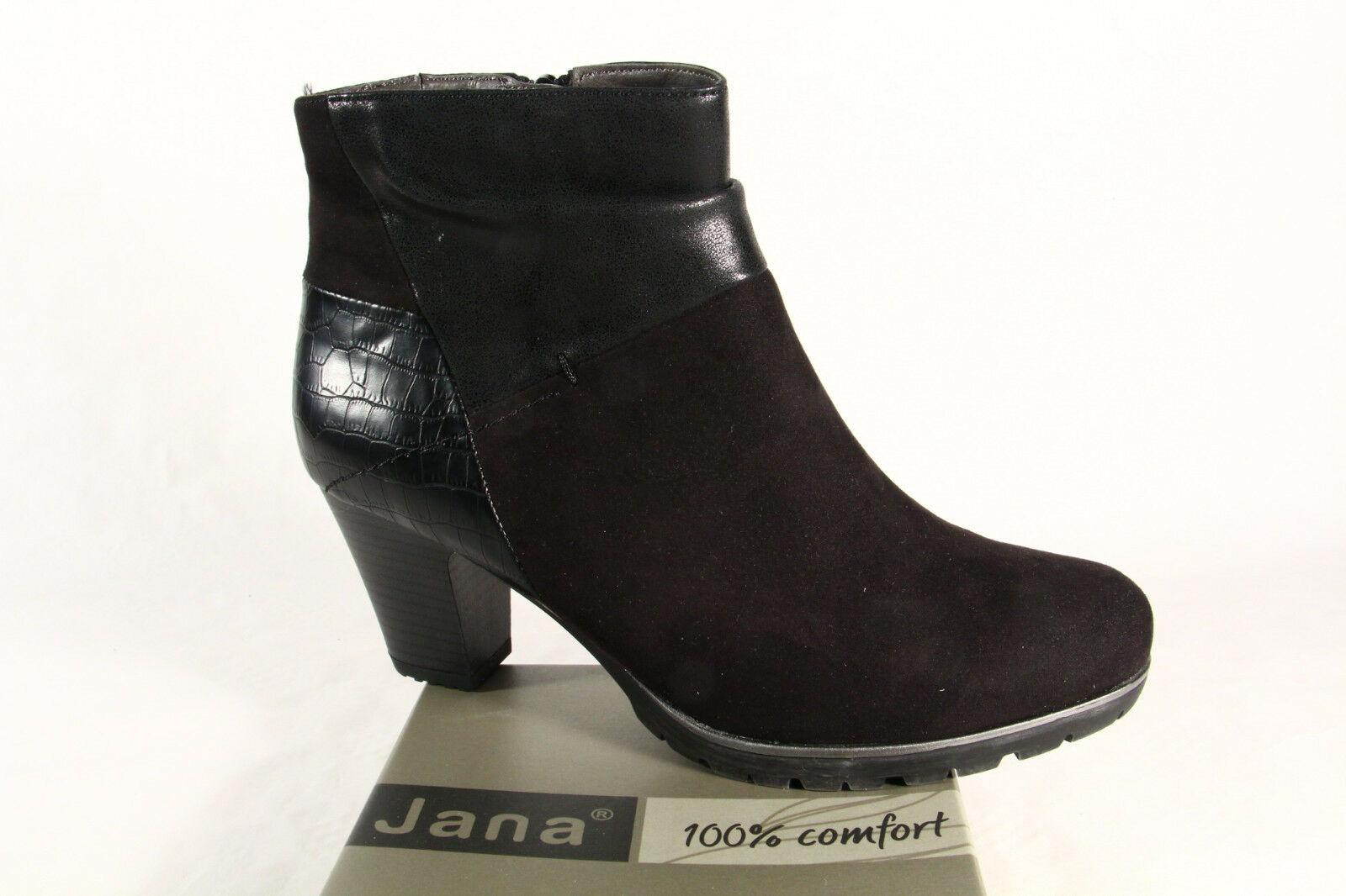 Jana Softline Damen Stiefelette, Stiefel, Stiefel schwarz 25374 NEU