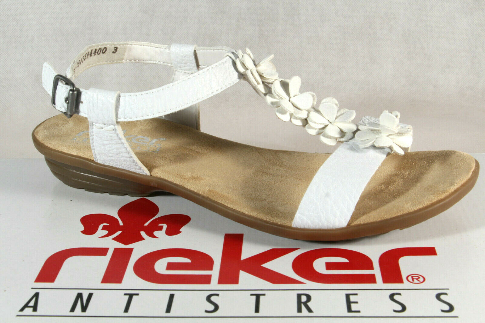 Rieker Damen Sandalen Sandaletten Sandale weiß V3446 NEU