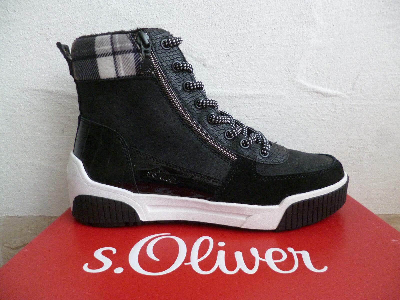s.Oliver Damen Stiefelette Stiefel Winterstiefel Boots schwarz  NEU