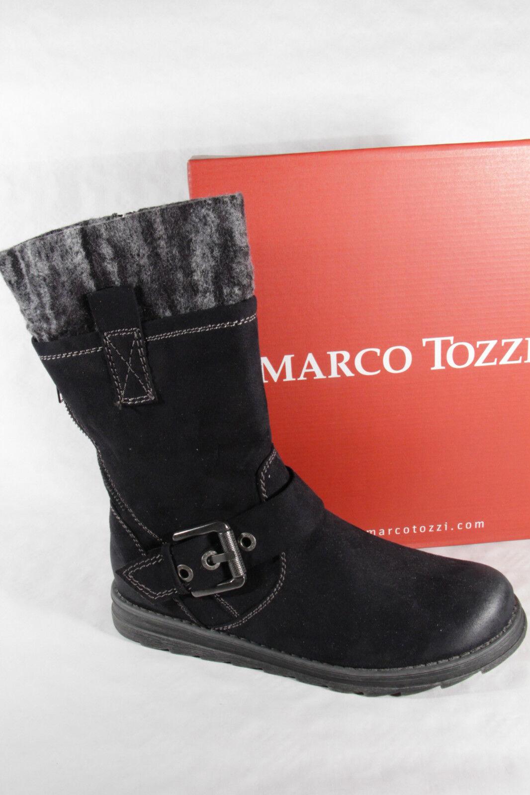 Marco Tozzi Tozzi Tozzi Stiefel Stiefel Winterstiefel schwarz, gefüttert, RV, 25600 NEU   8fccc6