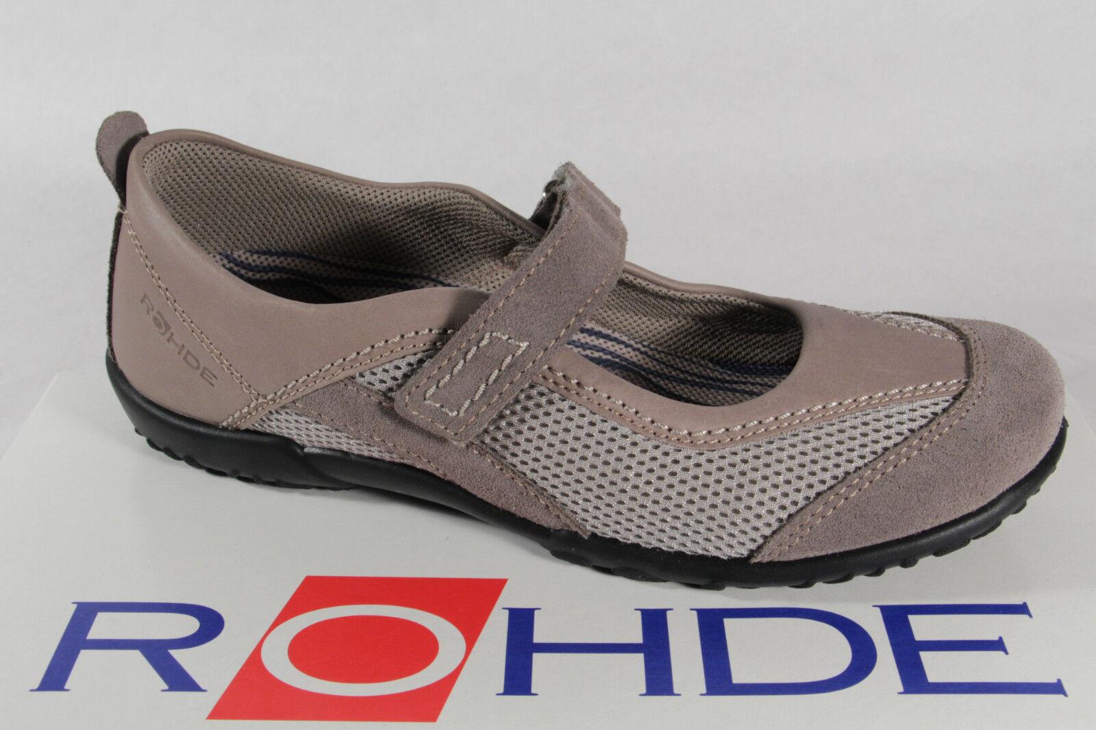 Rohde Slipper mit Wechselußbett für Einlagen geeignet, grau  beige NEU