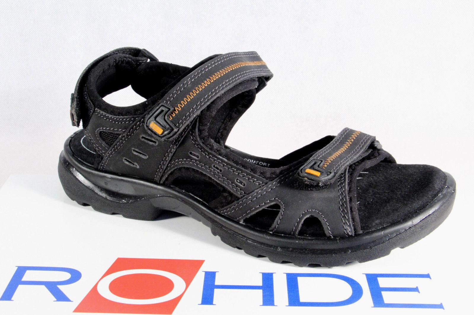 Rohde Damen Damen Damen Sandale Sandalen Sandaletten Weite G schwarz NEU   0a8727