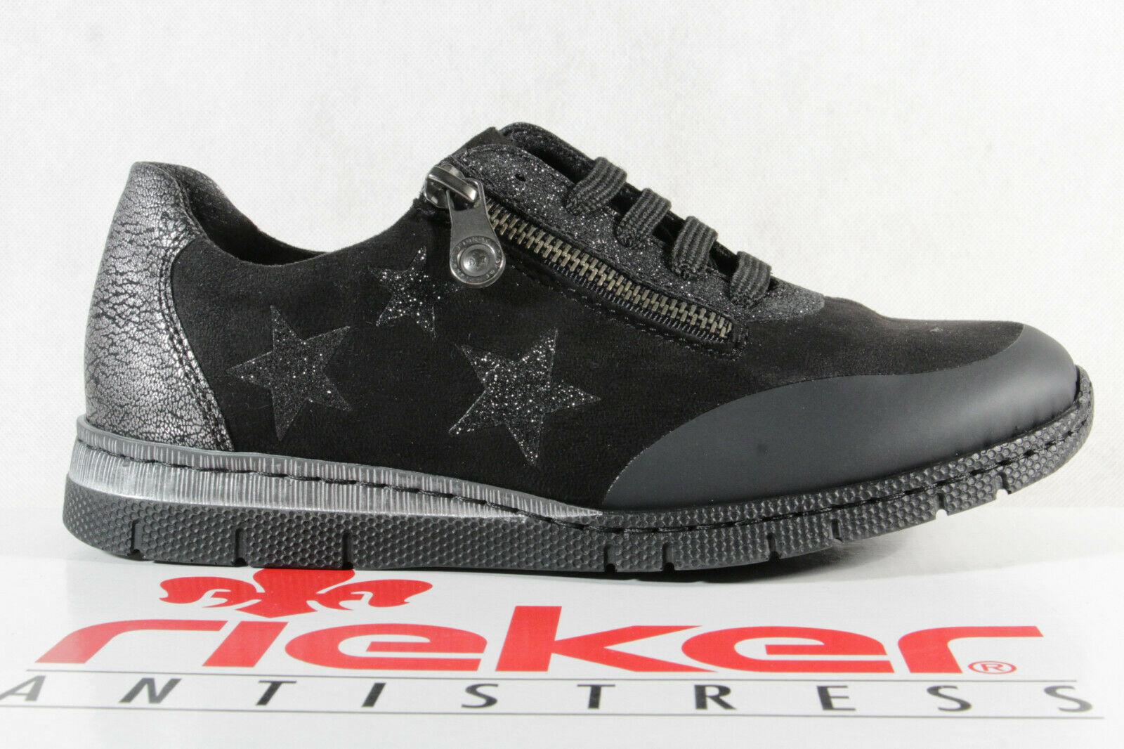 Rieker Damen Schnürschuhe Sneakers Sportschuhe Halbschuhe