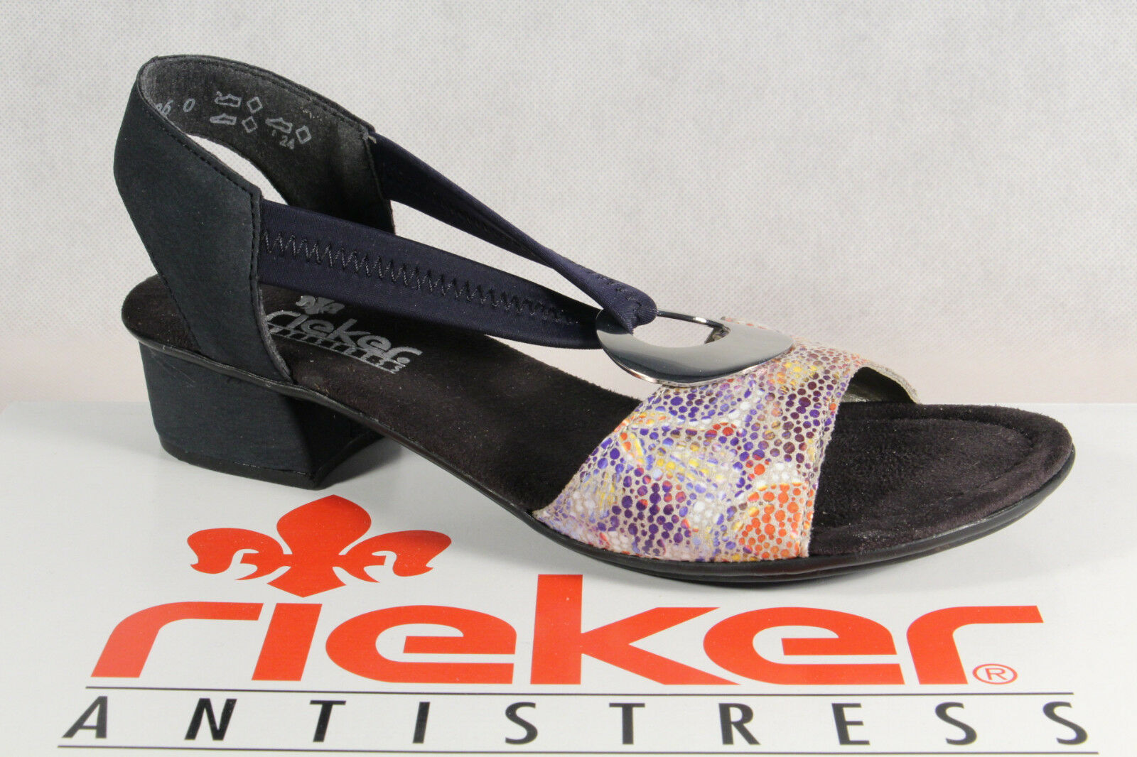 Rieker Damen Sandalen Sandaletten Sandale blau NEU