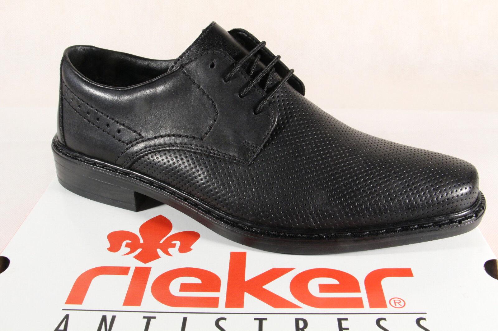Rieker Halbschuhe Slipper B2319 Schnürschuhe schwarz, Leder B2319 Slipper NEU   e09064