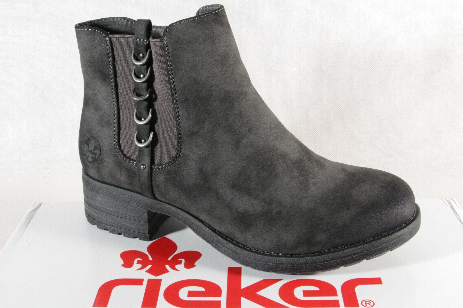 Rieker Stiefel Stiefelette Stiefeletten Boots Winterstiefel grau 96852 NEU!