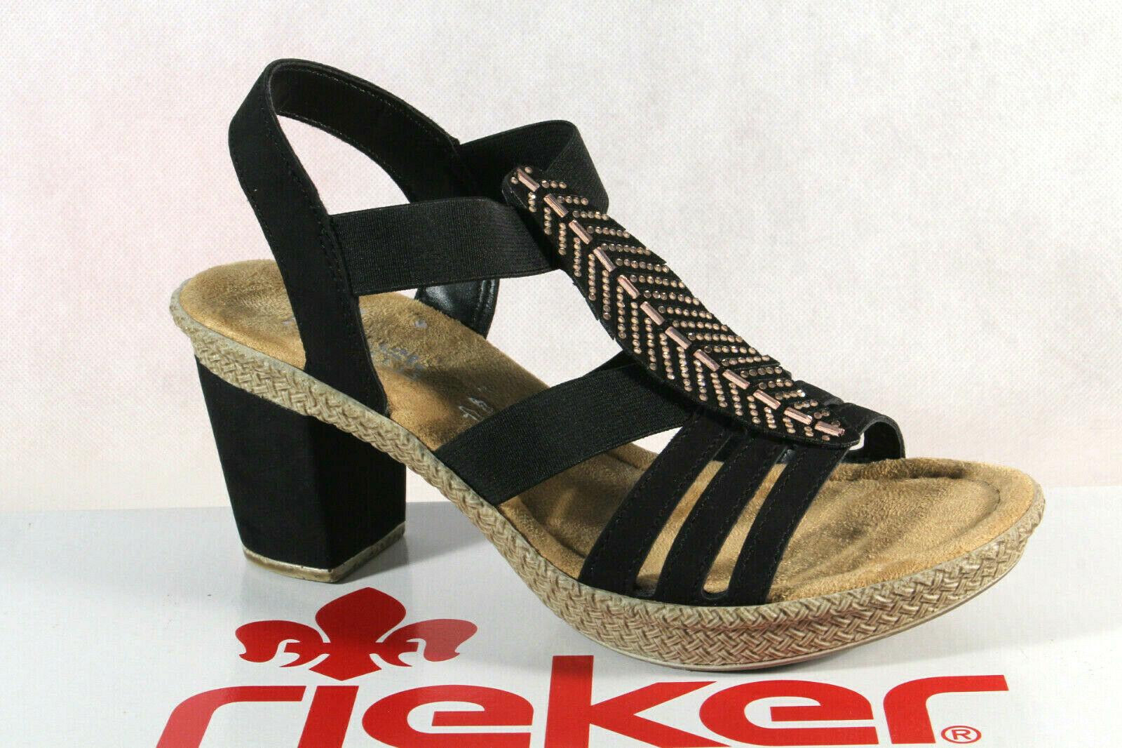 Praktische Rieker Beige Damenschuhe Sandalen Sandalette