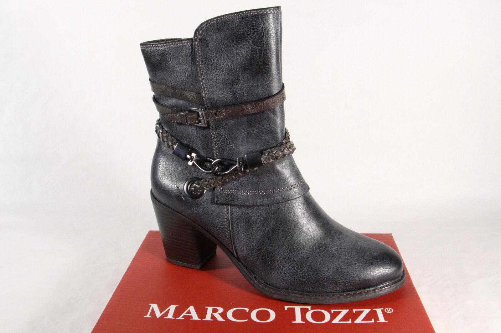 Marco Tozzi Damen Stiefel 25344 Stiefeletten Schnürstiefel, Stiefel navy blau NEU