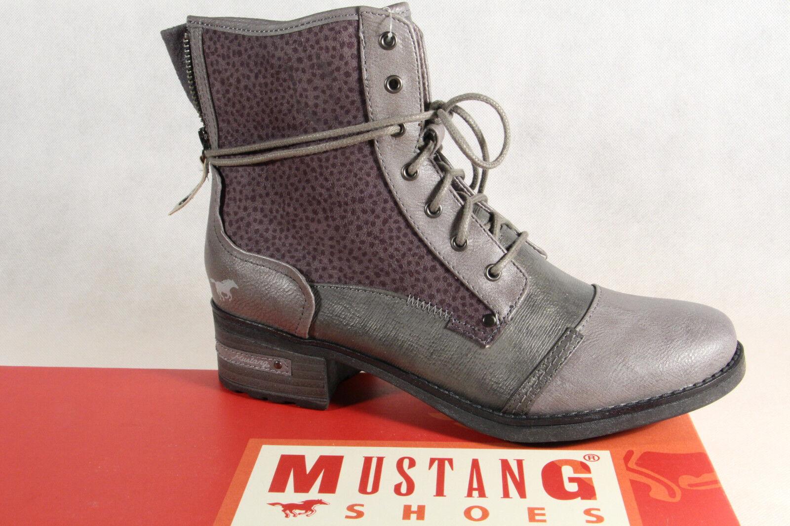Mustang Stiefel Stiefeletten Schnürstiefel Stiefel grau 1229 NEU