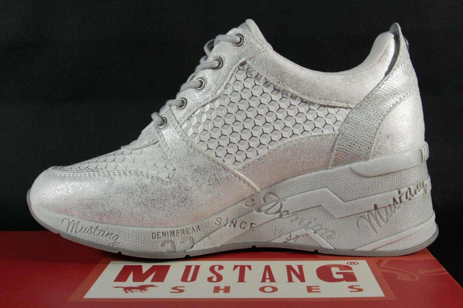 Mustang Schnürschuhe Sneakers Sportschuhe Halbschuhe weiß NEU