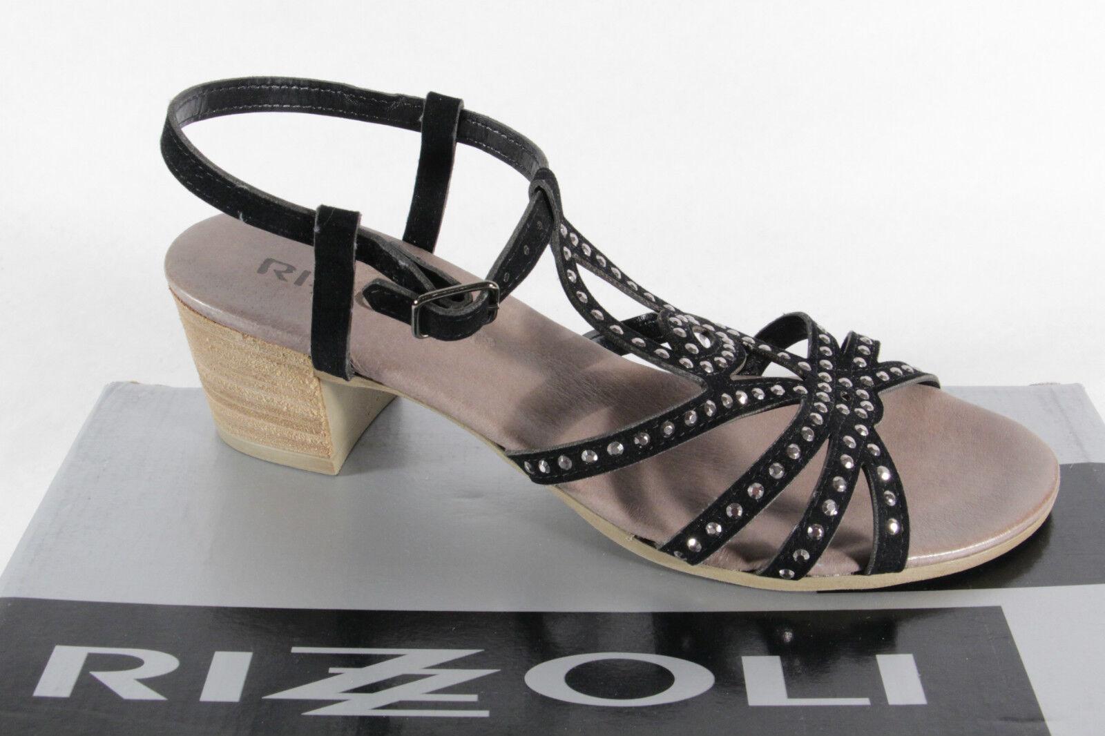 Rizzoli Damen Sandale schwarz, weiche Lederinnensohle, schmale Form NEU