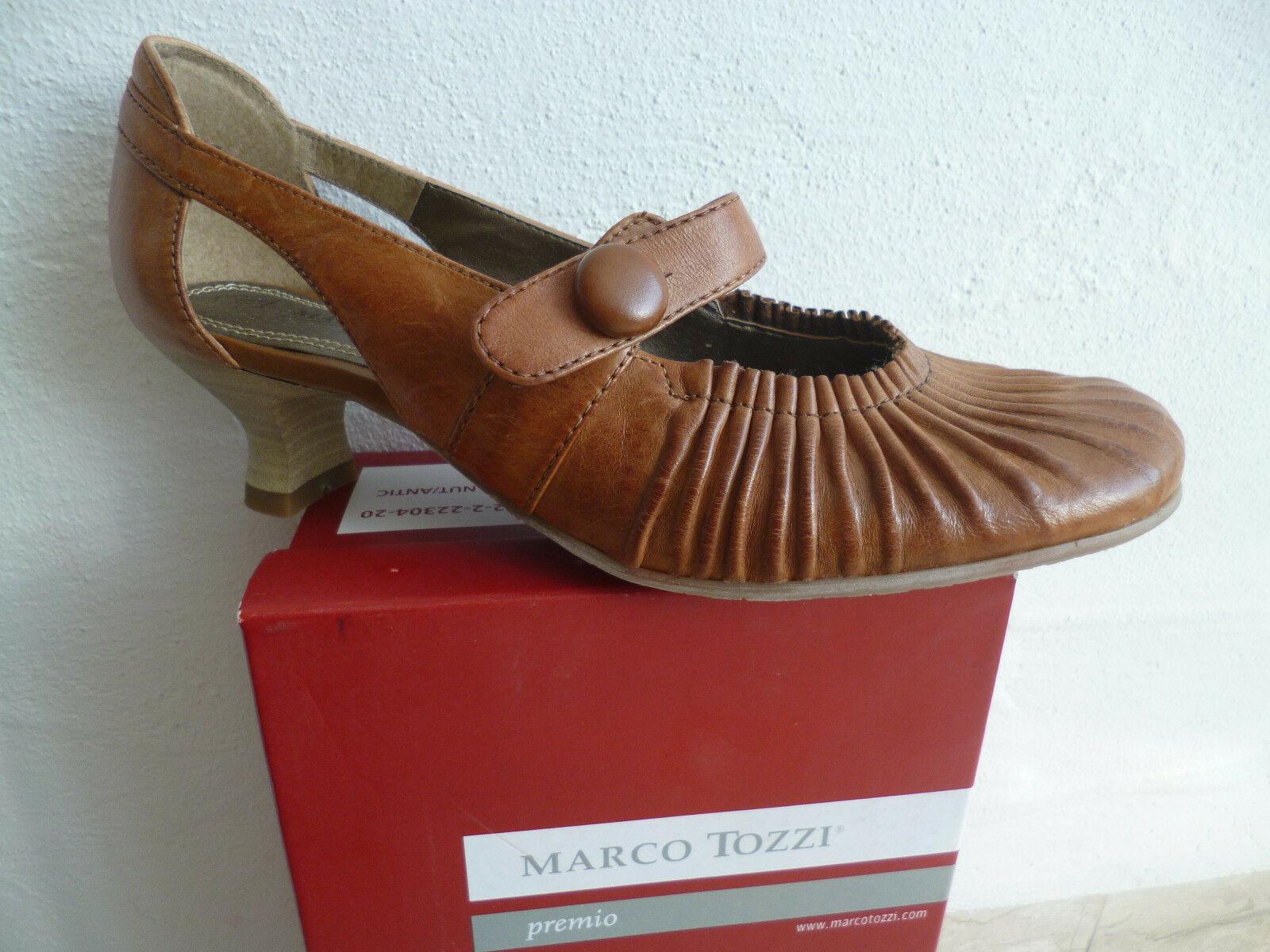 Marco Tozzi Pumps Slipper Ballerina Echtleder braun NEU!