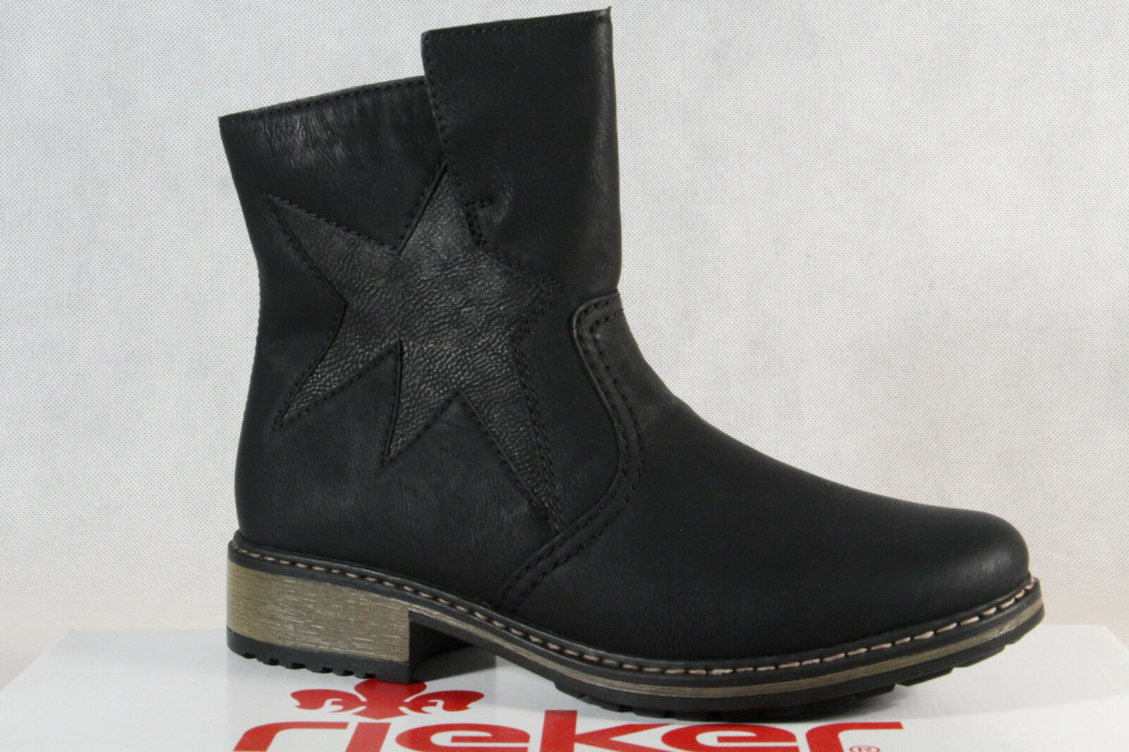 e1581553b318 Rieker Stiefel Stiefeletten Boots, Winterstiefel schwarz Z6865 NEU ...