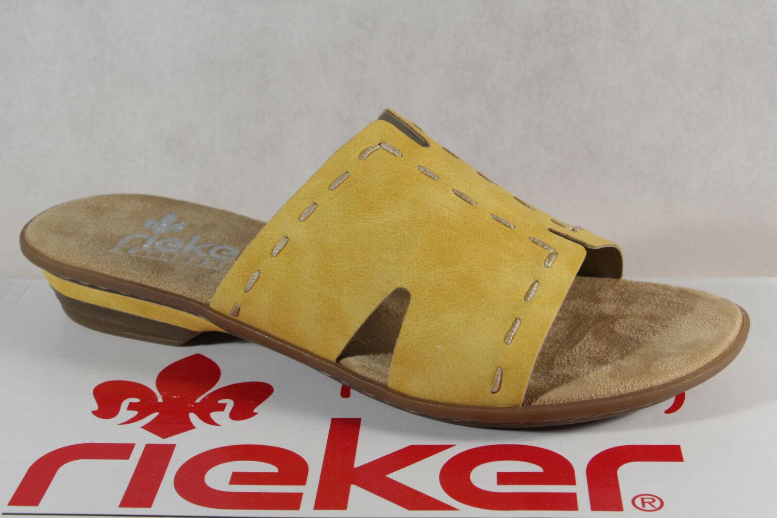 Details zu Rieker 63492 38 Women Schuhe Damen Freizeit Slipper Sandalen Pantoletten orange