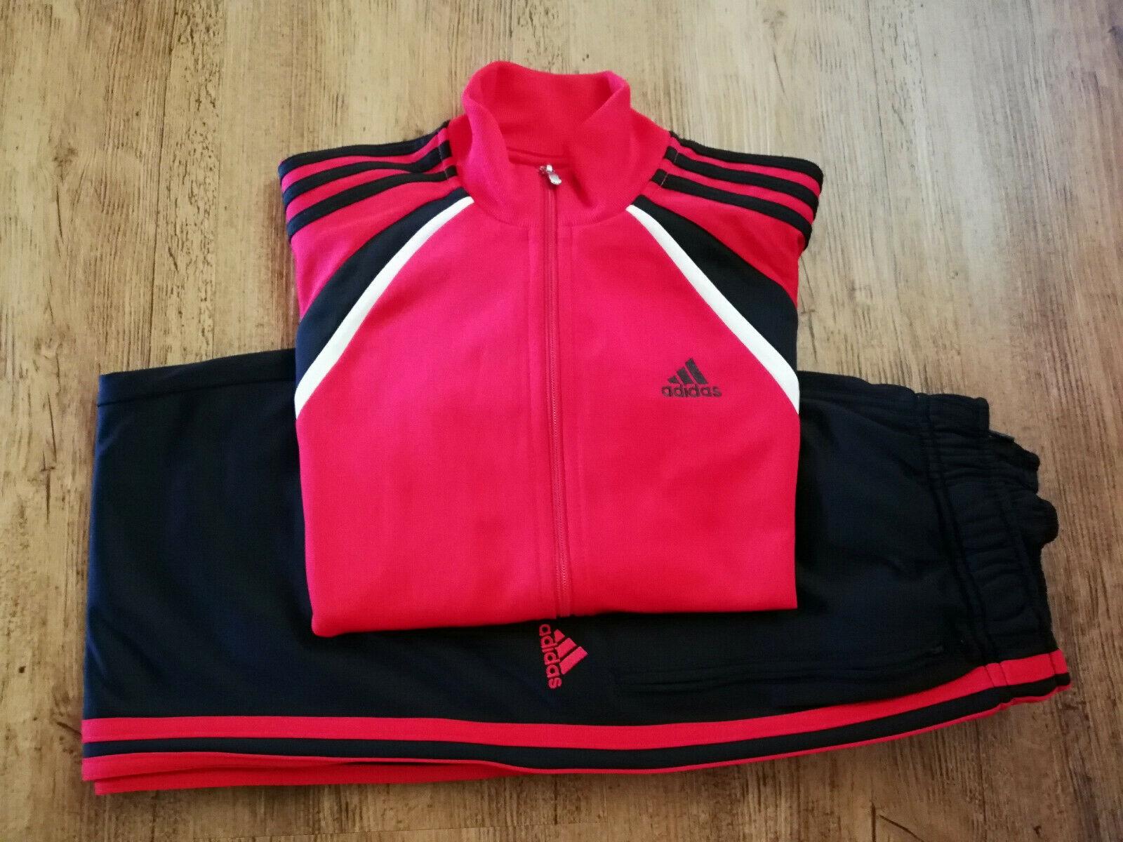 Adidas Trainingsanzug Sport Trainingsjacke Trainingshose rot schwarz NEU