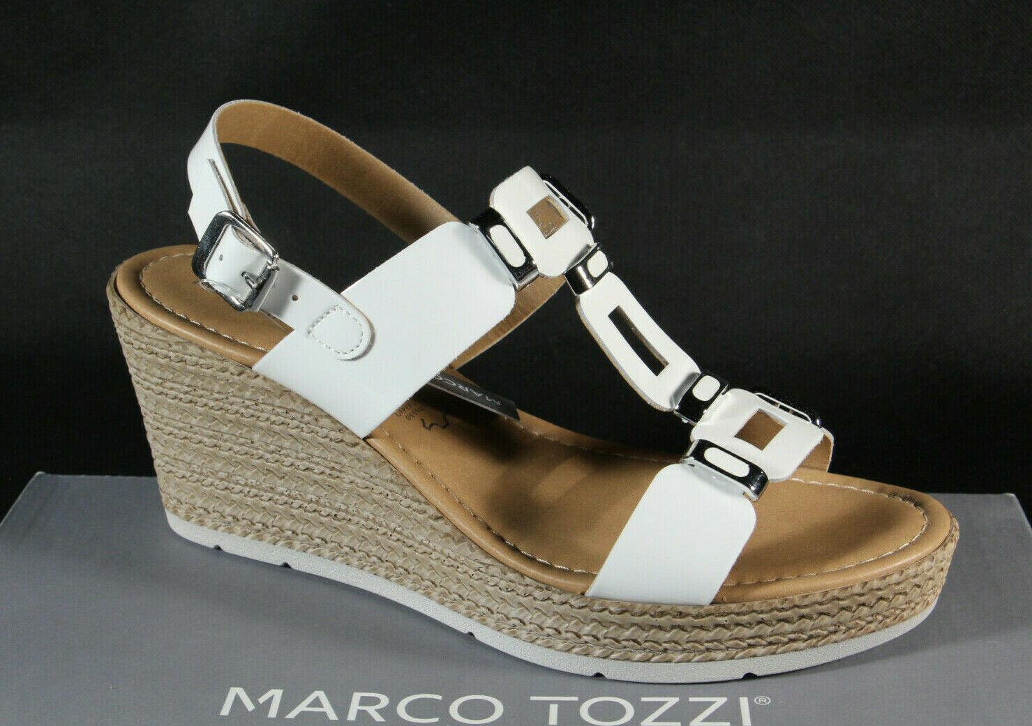 buy online fff1f e0494 Marco Tozzi Damen Sandalen Sandaletten weiß Echtleder 28355 NEU!!