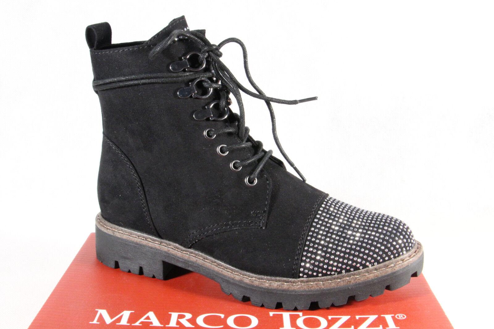 Marco Tozzi Stiefelette Stiefel Winterstiefel Schnürstiefel schwarz 46203 NEU