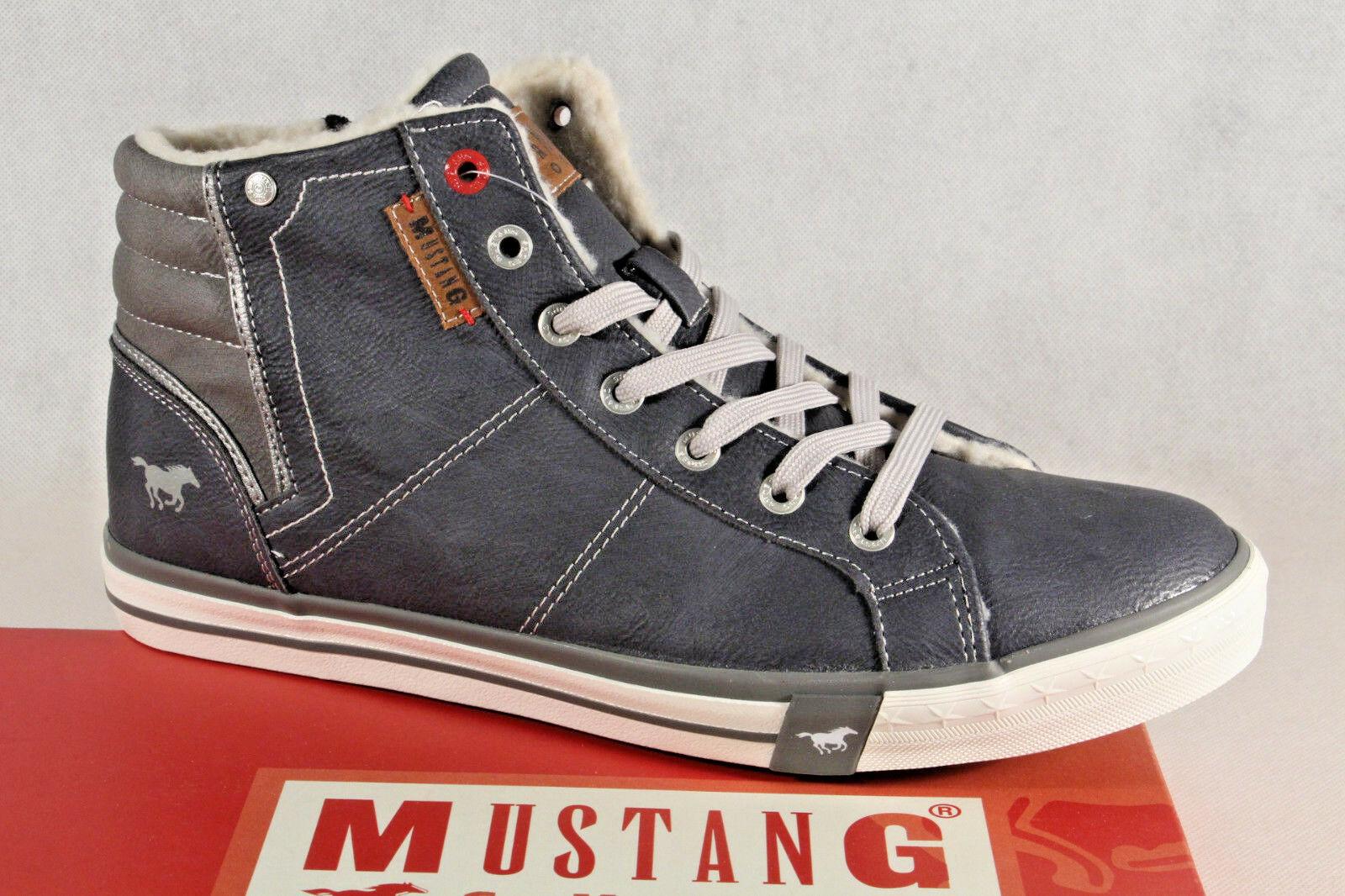 Mustang Stiefel Stiefel Schnürstiefel Winterstiefel blau 4096 NEU
