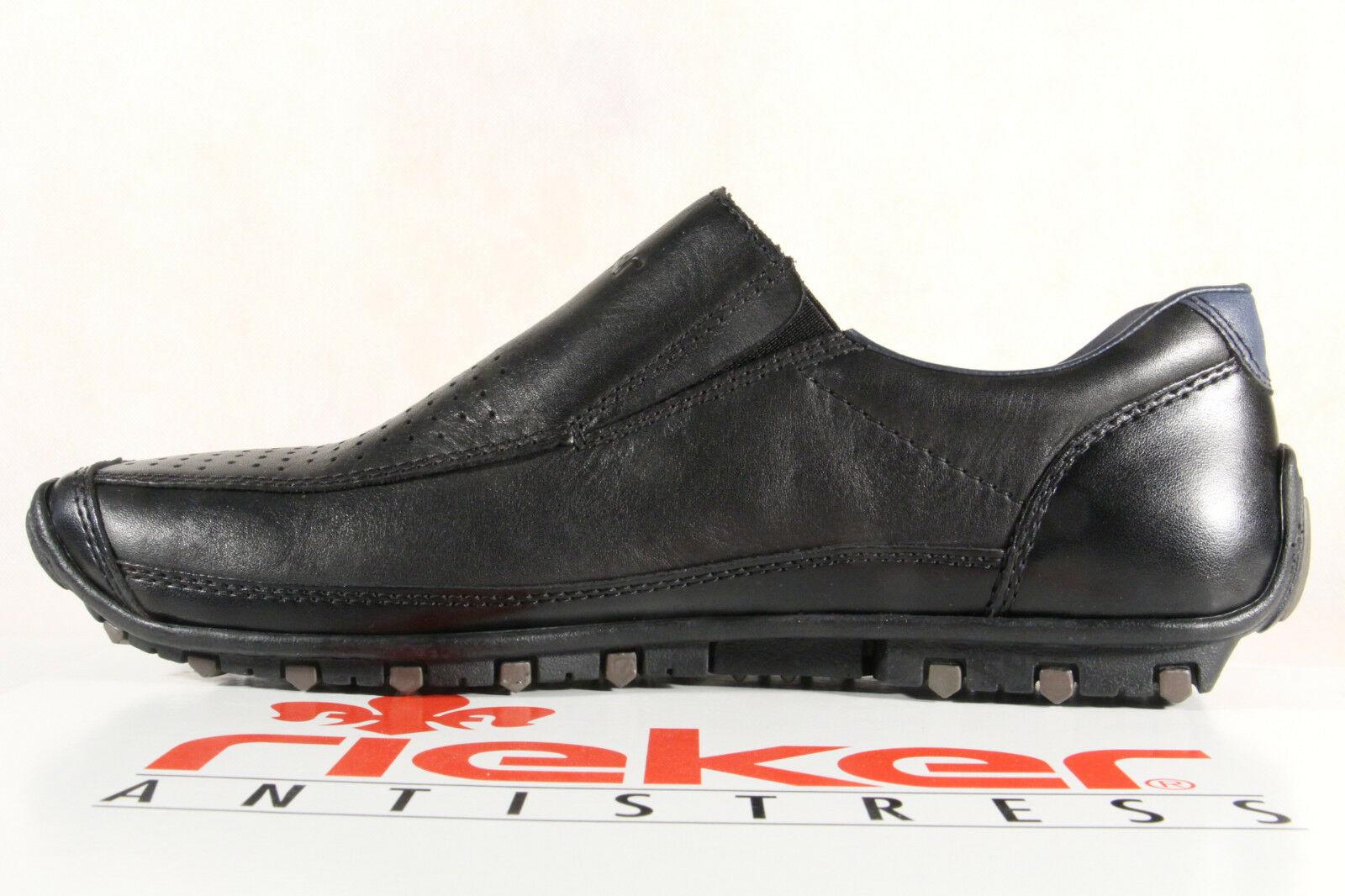 Rieker Slipper Halbschuhe Sneakers schwarz Leder 08985 NEU 1aUgf