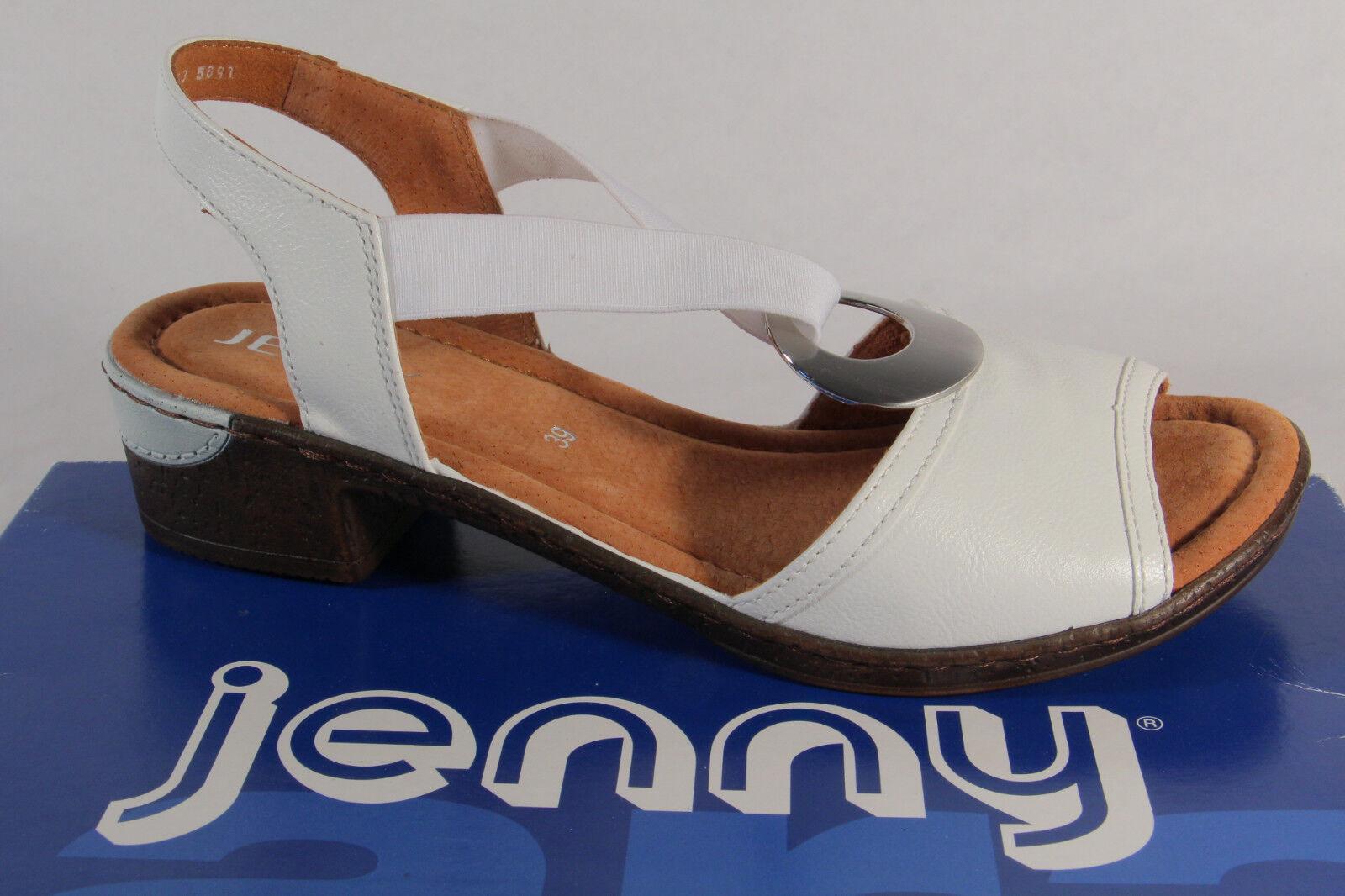 Damen Sling Weiss Neu Jenny Sandale Sandalette vNy8Omn0w