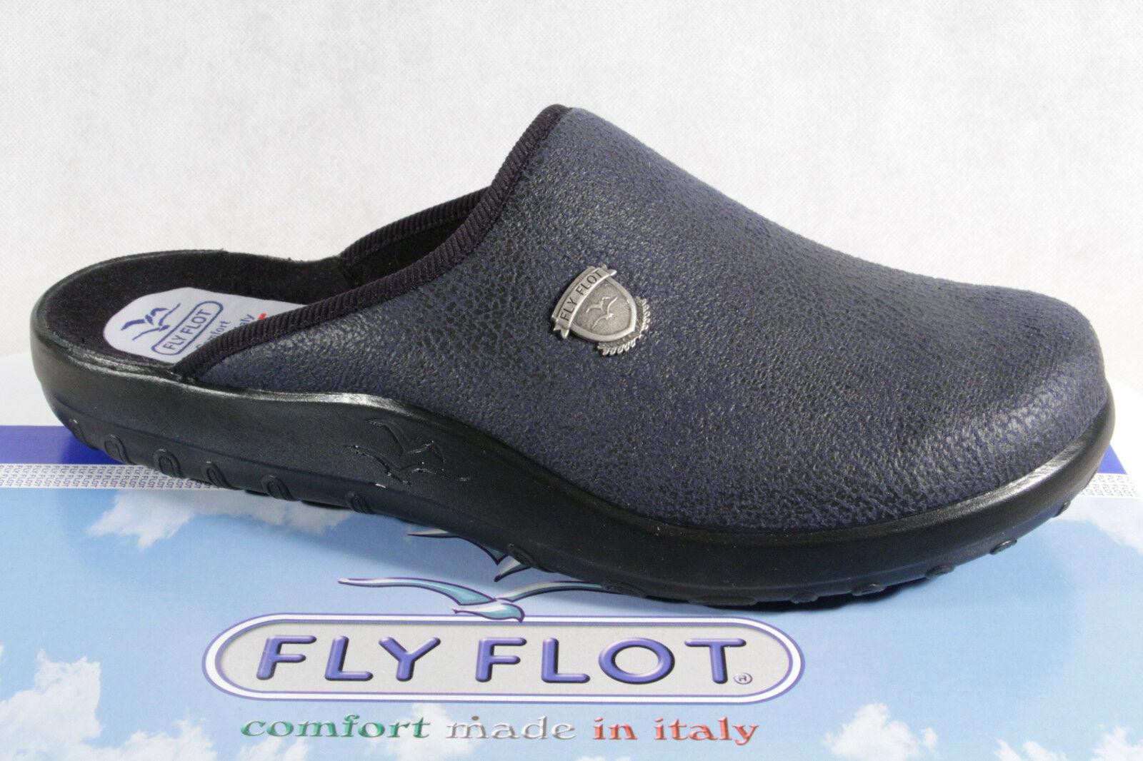 Fly Flot pantoffel hausschuhe pantoletten clogs Grau/ Schwarz neu