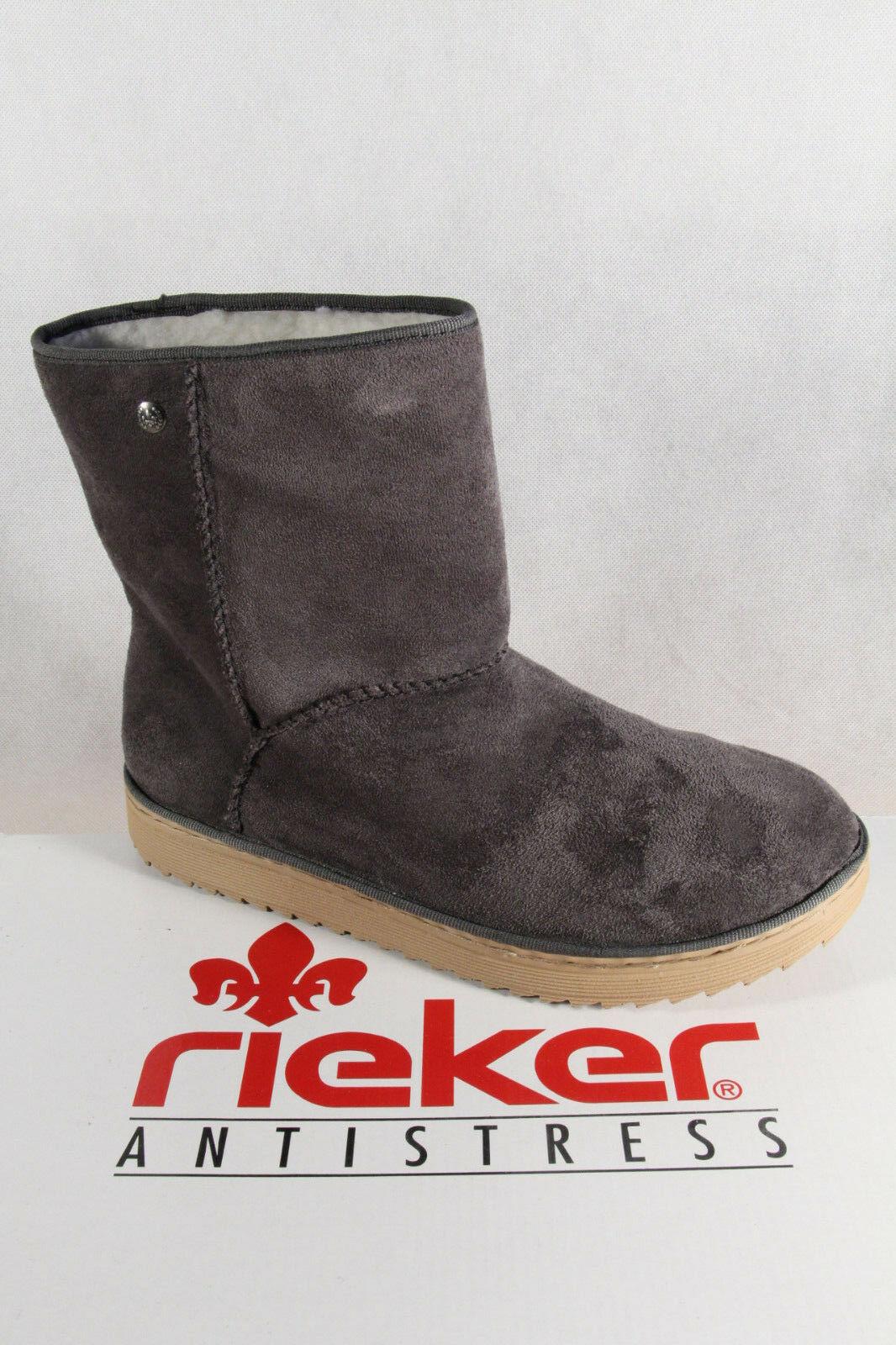 Stiefeletten Neu Damen Y7881 Stiefel Rieker Grau Boots Winterstiefel srdtQCh