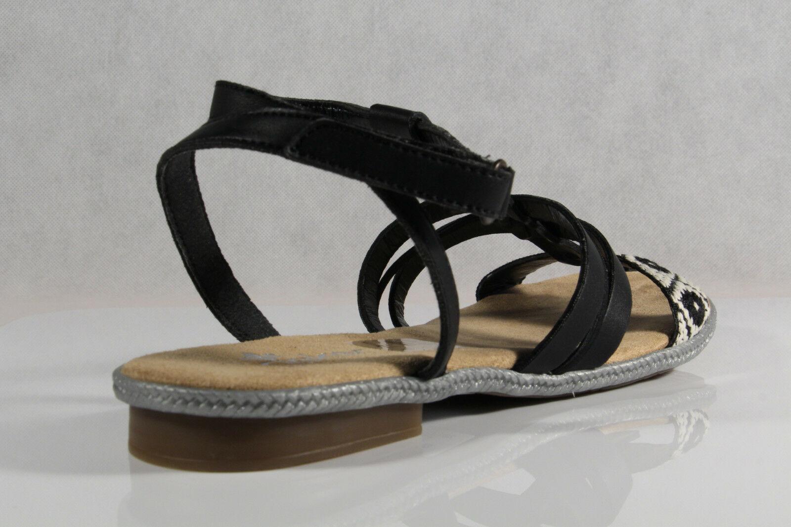 Rieker Damen Sandalen Sandaletten Sandale schwarz 62736 KV n5qRc