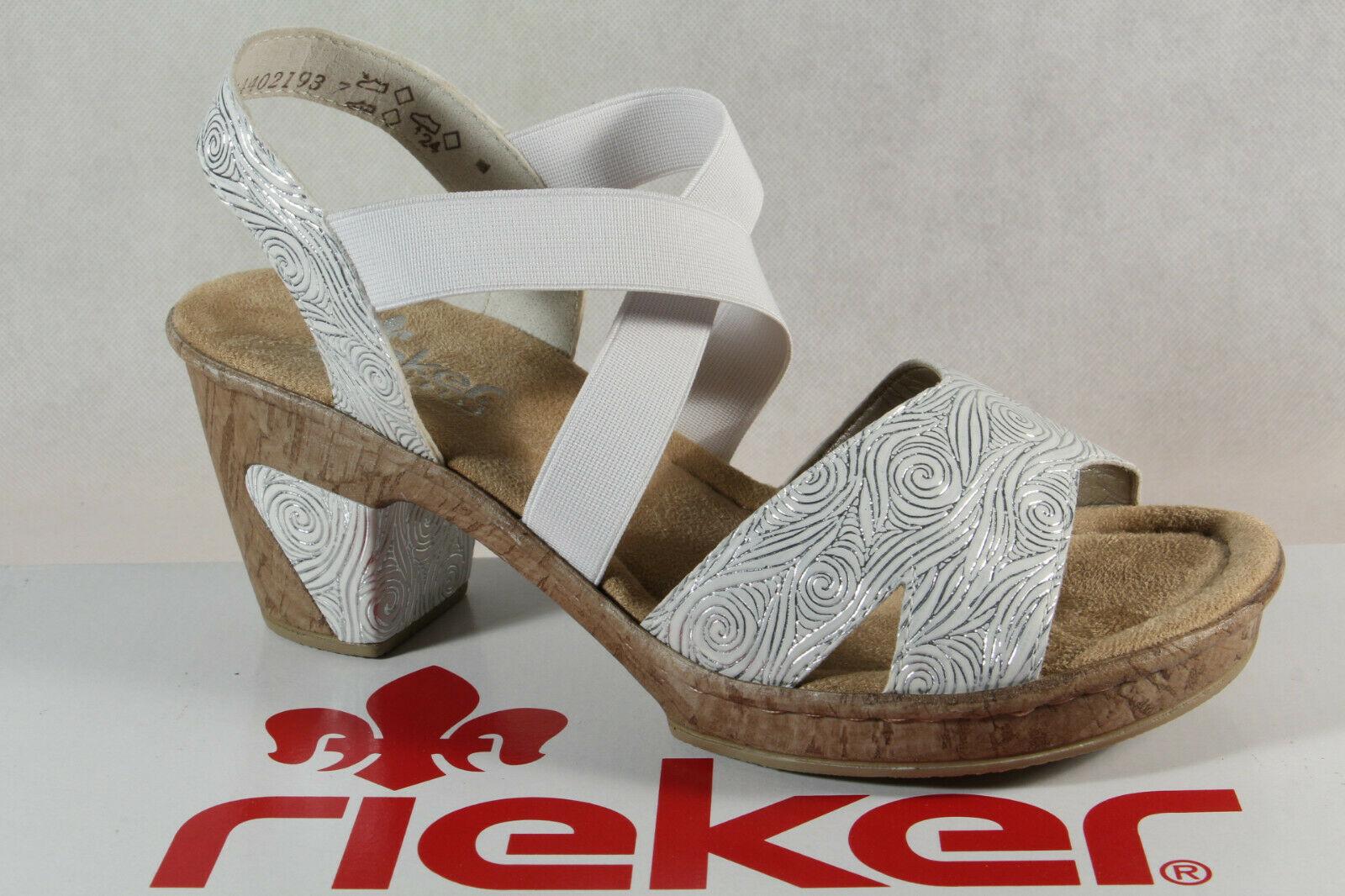 Rieker Damen Sandale Sandalen Sandalette Sandaletten weiß uhYjf