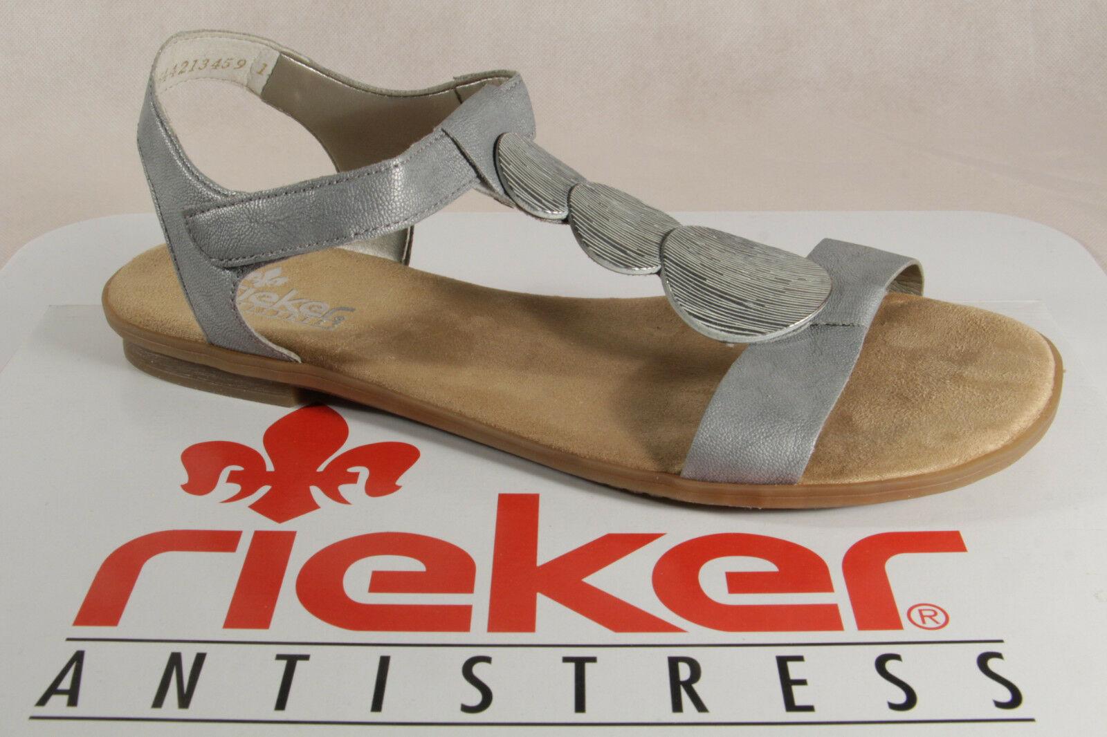 sports shoes 84acc 47f72 Rieker Damen Sandalen Sandaletten grau, weiche Innensohle 64263 NEU!!