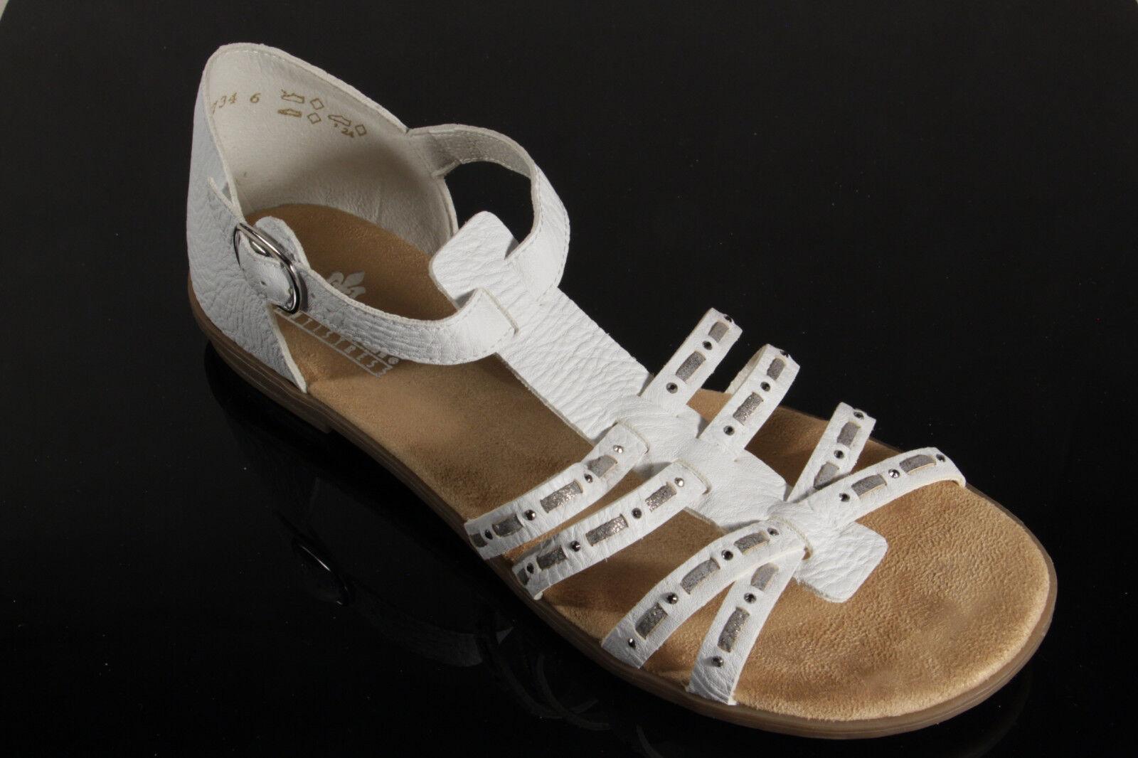 Rieker Damen Sandalen Sandaletten weiss weiche Innensohle 64274 64274 64274 NEU   603eca