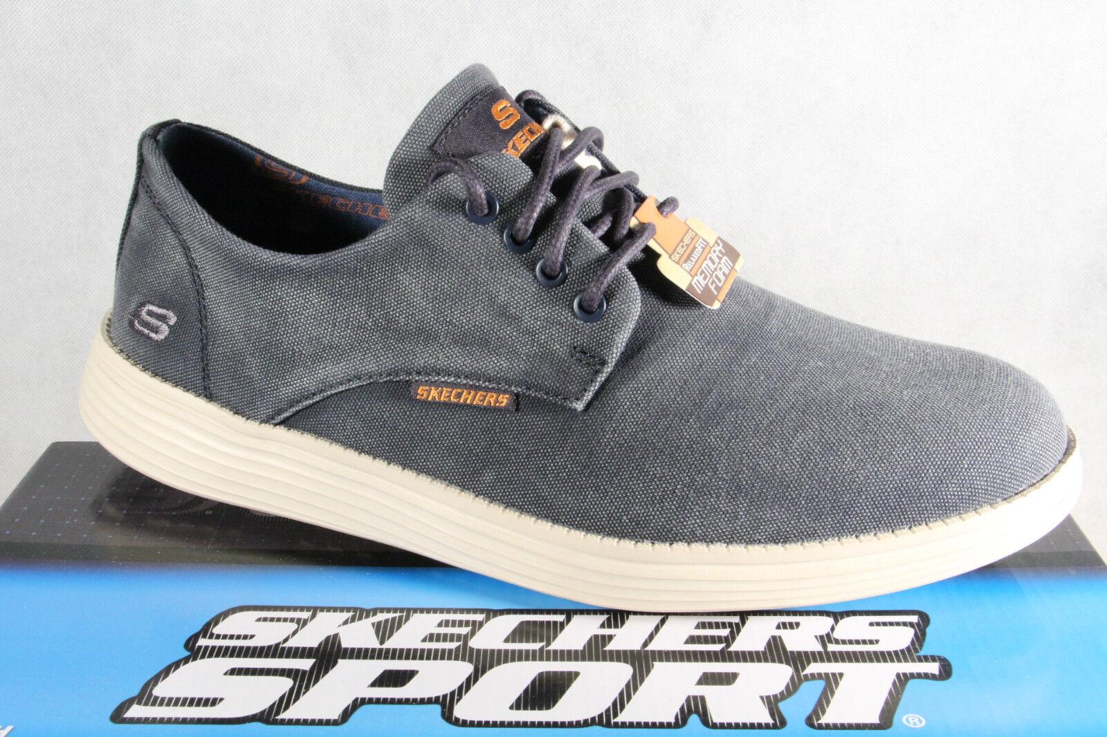 5e97fa8569 Skechers Herren Schnürschuhe Sneakers Sportschuhe blau Vintage Washed NEU!