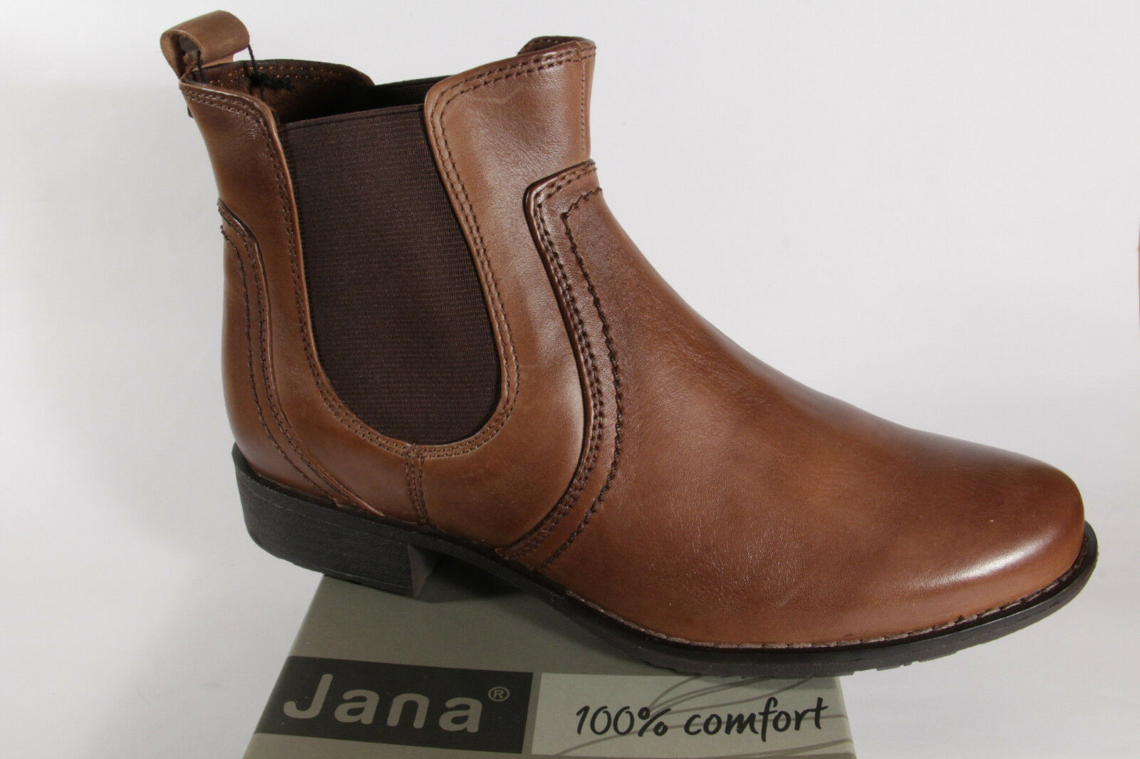best sneakers 62113 b2d24 Jana 25414 Damen Stiefel, Stiefeletten Boots Echtleder braun NEU!