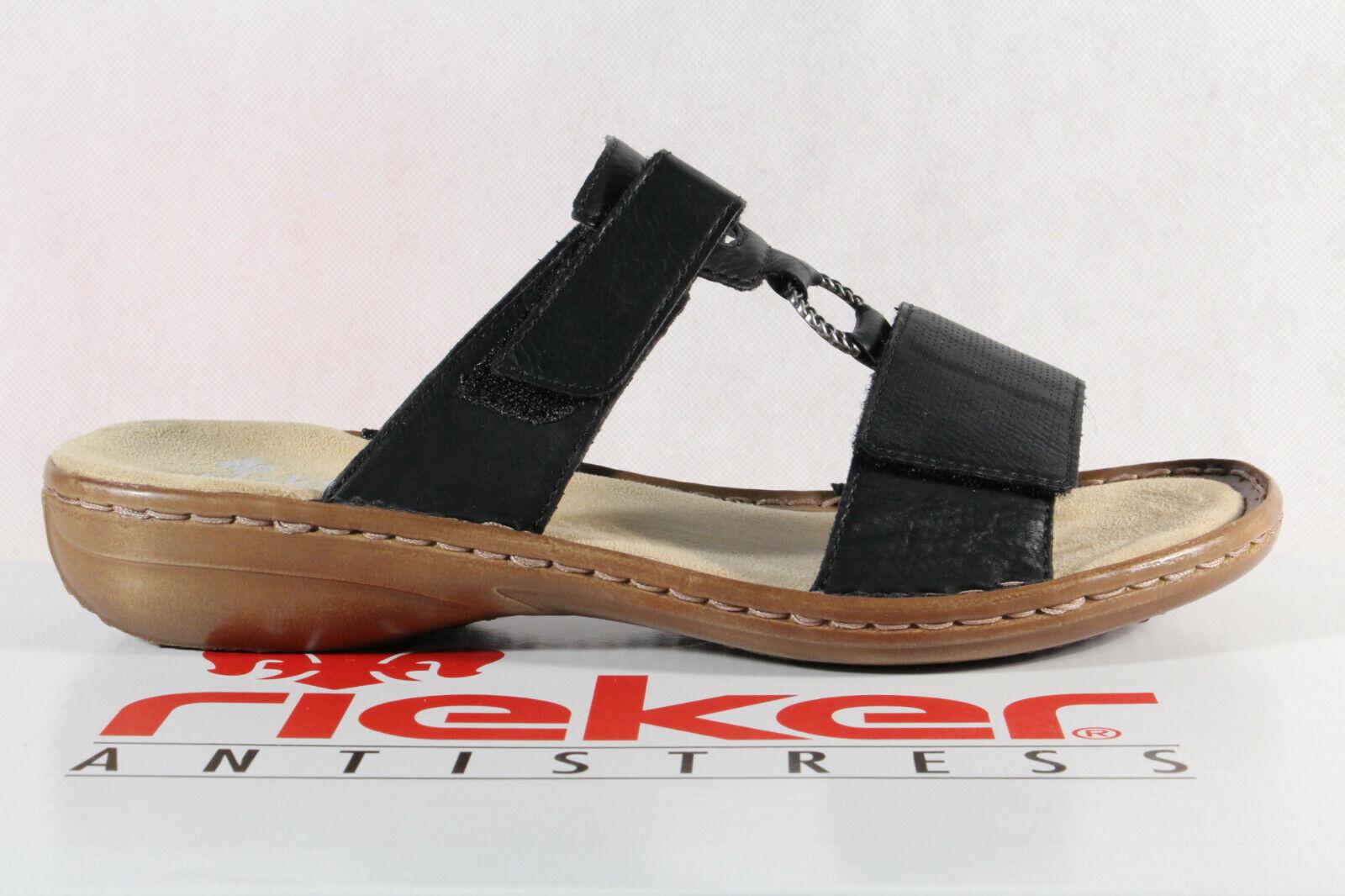 Rieker Damen Pantolette Pantoletten Pantoffel Hausschuhe schwarz 60885 NEU!