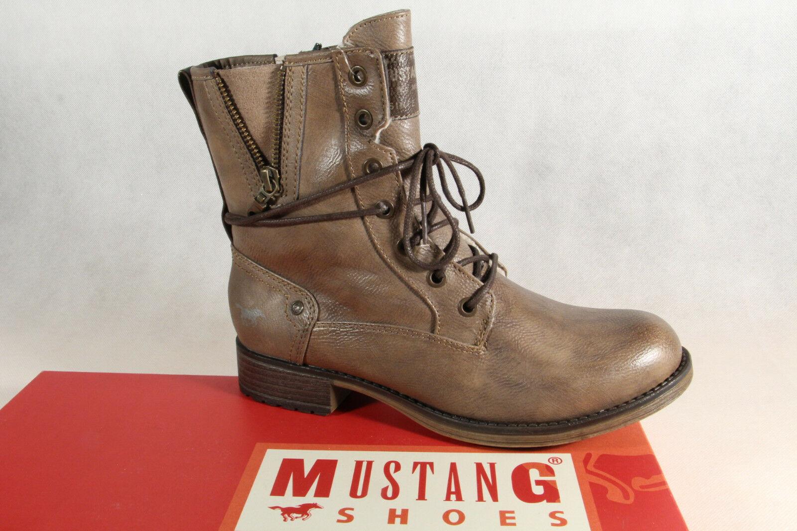 Mustang Stiefel Stiefeletten Schnürstiefel Boots taupe 1139  NEU!