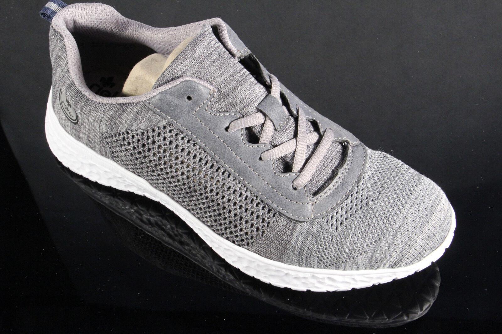 Rieker Damen Schnürschuh Schnürschuhe Sneakers Sportschuhe Halbschuhe grau NEU!