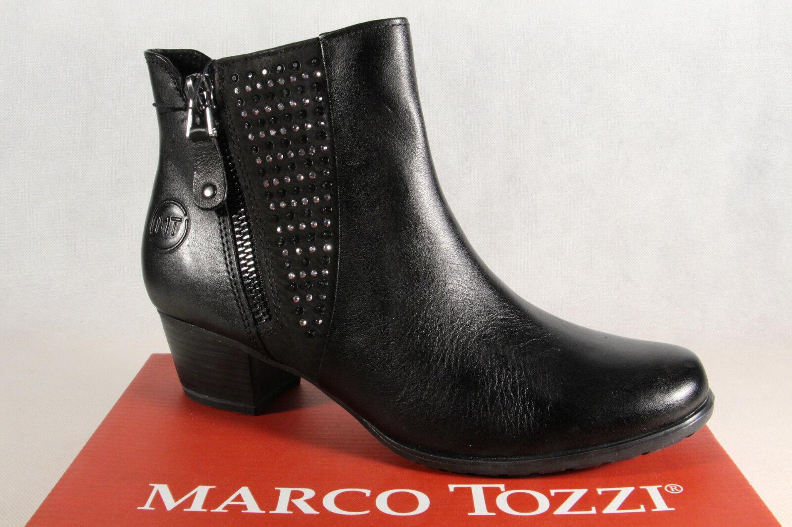 Marco Tozzi Stiefel, Stiefelette, schwarz leicht gefüttert, 25368 Echtleder NEU NEU NEU  2e3bcd