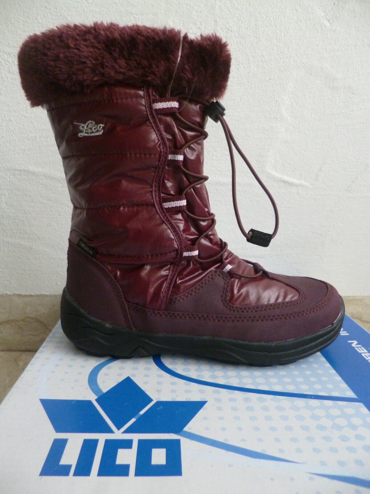 buy popular 87b20 8b0ab Lico Mädchen Stiefel Winterstiefel Boots bordo wasserdicht NEU!!