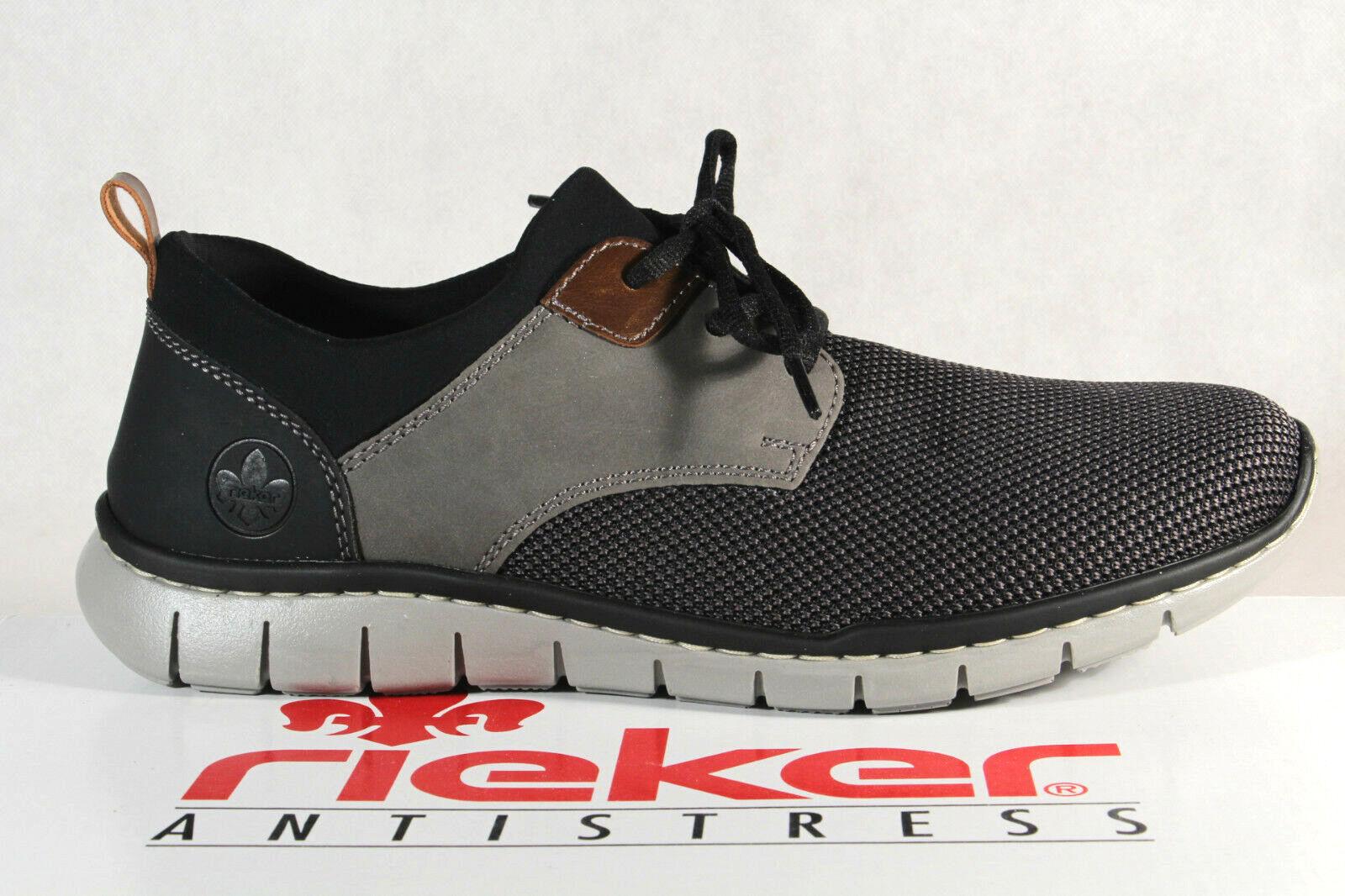 Rieker Herren Slipper Halbschuhe Sneakers grau schwarz B8764 NEU