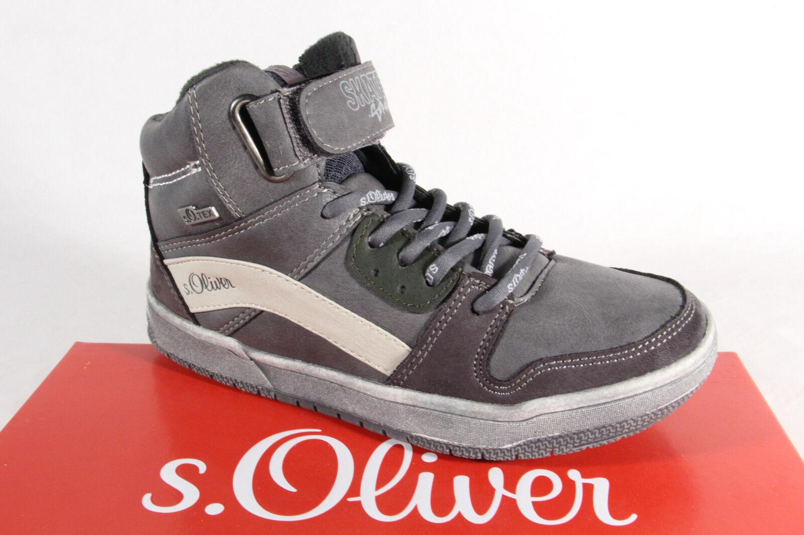 S.Oliver Knaben Tex Stiefel Stiefeletten Stiefel grau 45302 NEU